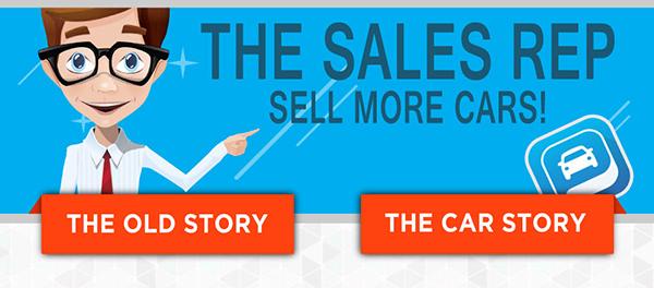 The CarStory Sales Representative Cartoon